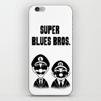 Super Blues Bros. (Black and White) iPhone & iPod Skin
