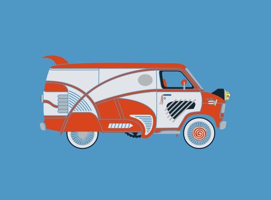 Pee Wee's Big Adventure Van Art Print