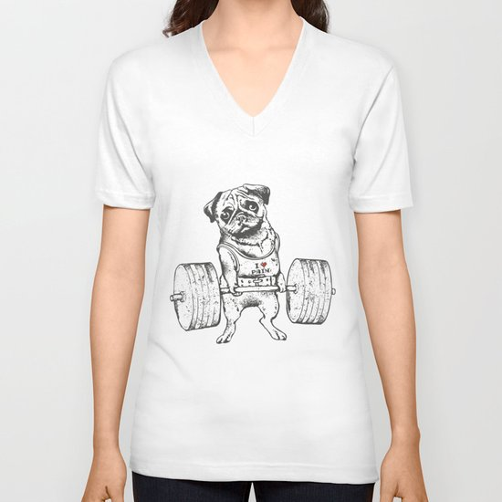 Pug Lift V-neck T-shirt