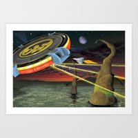 Tribute to ELO Art Print