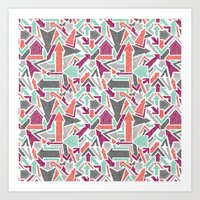 Patterned Arrows Art Print