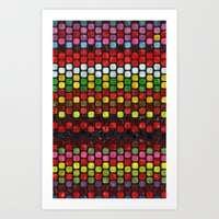 Tiles of Colors Art Print