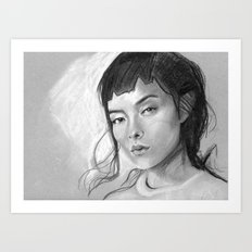 Charcoal Drawing No. 3 Art Print