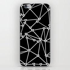 Abstract Heart Zoom Black iPhone & iPod Skin