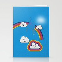 The Great Rainbow Cloud Robbery Stationery Cards