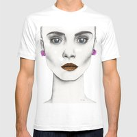 Cara Mens Fitted Tee White SMALL