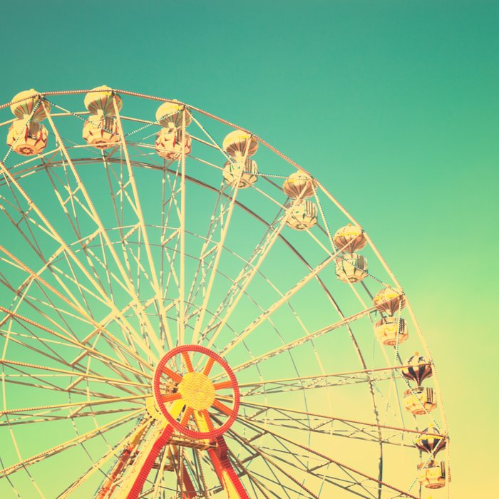 All the happy days - Carnival, ferris wheel , turquoise ...