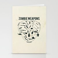 Zombie Weapons Stationery Cards