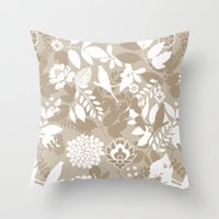 Rising spring - Nude Throw Pillow