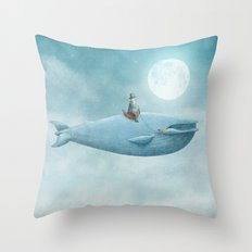 Whale Rider Throw Pillow