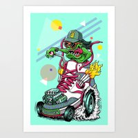 RIDE IT, KICK IT! Art Print