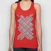 Map Outline Grey 45  Unisex Tank Top