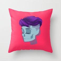 see through girl 2 Throw Pillow