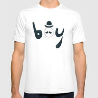 Boy Mens Fitted Tee White SMALL