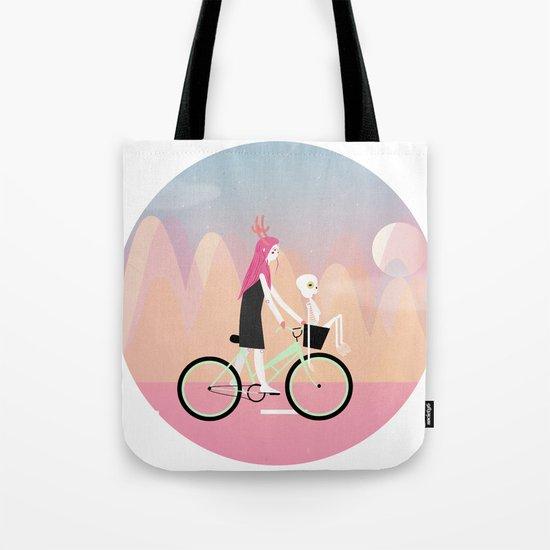 girl on wheels Tote Bag