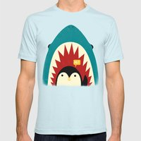 Hi! Mens Fitted Tee Light Blue SMALL