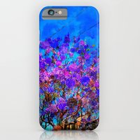 Purple Stained Glass Tree iPhone 6 Slim Case