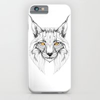 iPhone Cases featuring Lynx pardinus (black stroke version for t-shirts) by Rafapasta