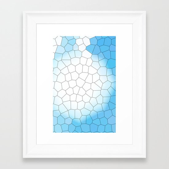 IRREGULAR LIGHT BLUE Framed Art Print