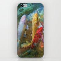 A Swirl Of Koi iPhone & iPod Skin