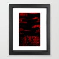 Blinded By Blood Framed Art Print