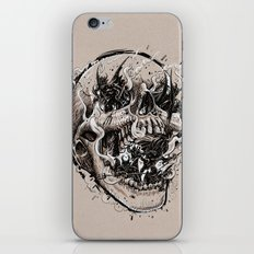 skull with demons struggling to escape iPhone & iPod Skin