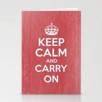 Keep Calm And Carry On -… Stationery Cards