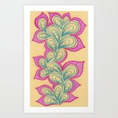 Drops and Petals 2 Art Print