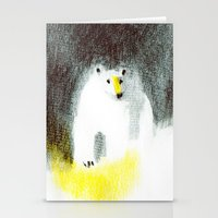 polar bear Stationery Cards featuring Polar Bear by Linette No