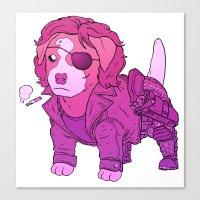 Kurt Russell Terrier - Snake Plissken Canvas Print