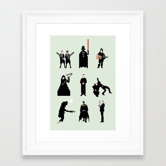 Men in Black Framed Art Print