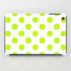 Polka Dots (Lime/White) iPad Case