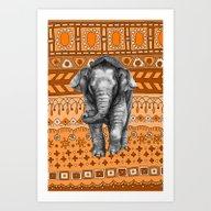 Baby Elephant G046-008 Art Print