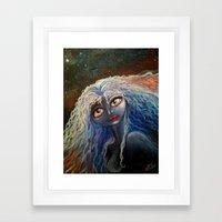 The Star Angel Framed Art Print