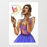 Hey Girl (Hey!) Art Print