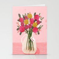 Valentines Day Bouquet F… Stationery Cards