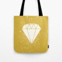 Space Diamond (gold) Tote Bag