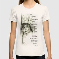 Wild Thing Womens Fitted Tee Natural SMALL
