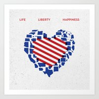 LIFE    LIBERTY    HAPPI… Art Print