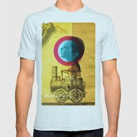 A Childhood Journey Betw… Mens Fitted Tee Light Blue SMALL