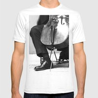 The Cellist Mens Fitted Tee White SMALL