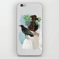 Girl&bird iPhone & iPod Skin