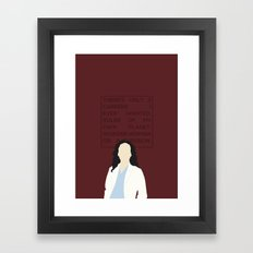Greys Anatomy: Cristina Yang Framed Art Print