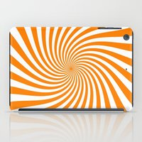 Swirl (Orange/White) iPad Case