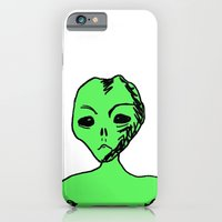 iPhone & iPod Case featuring Alien by MorningMajor