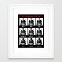 Expressions Of The Dalek Framed Art Print