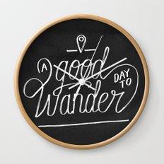 Good Day to Wander Wall Clock