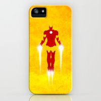 iPhone Cases featuring Man of Iron by JordanJBDesigns