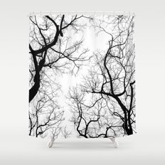 Black And White Tree Top… Shower Curtain