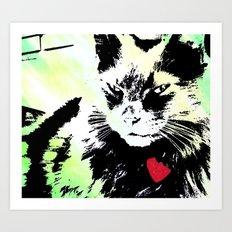 Key lime kitty Art Print